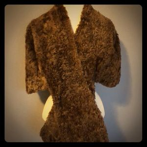 Vintage curly Persian shrug/wrap